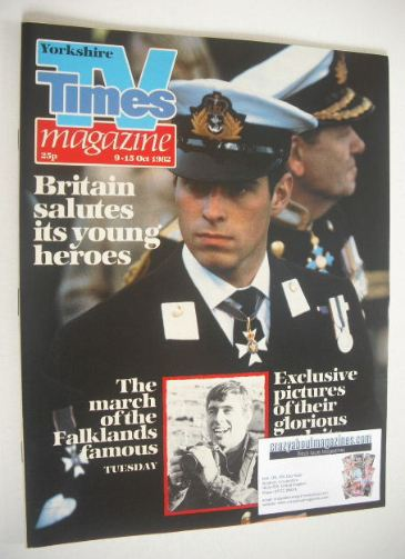 <!--1982-10-09-->TV Times magazine - Prince Andrew cover (9-15 October 1982