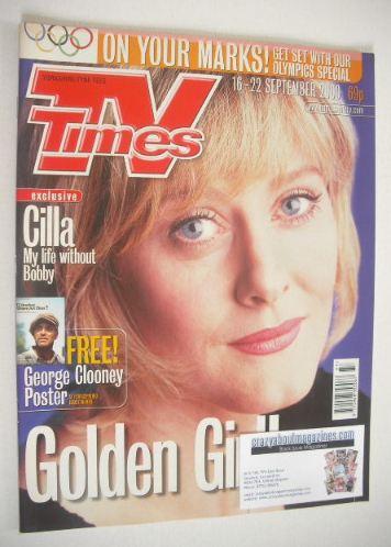 <!--2000-09-16-->TV Times magazine - Sarah Lancashire cover (16-22 Septembe