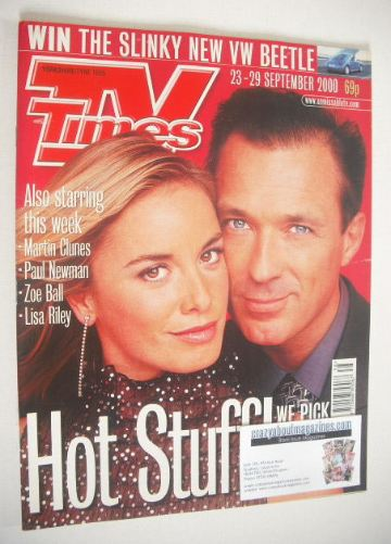 <!--2000-09-23-->TV Times magazine - Tamzin Outhwaite and Martin Kemp cover
