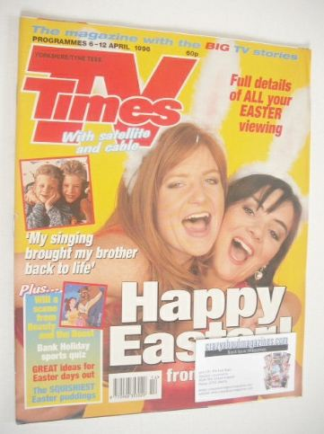 <!--1996-04-06-->TV Times magazine - Patsy Palmer and Martine McCutcheon co