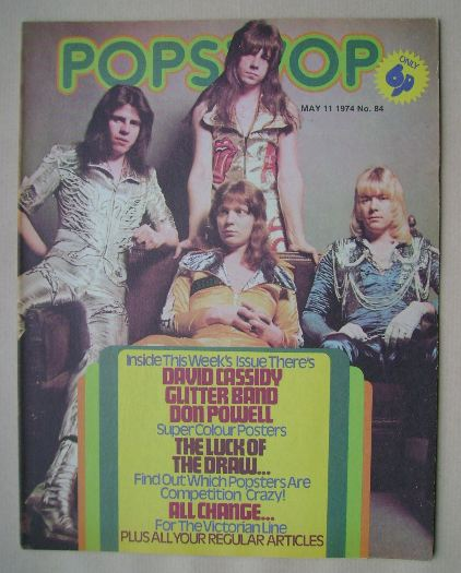 <!--1974-05-11-->Popswop magazine - 11 May 1974 - The Sweet cover