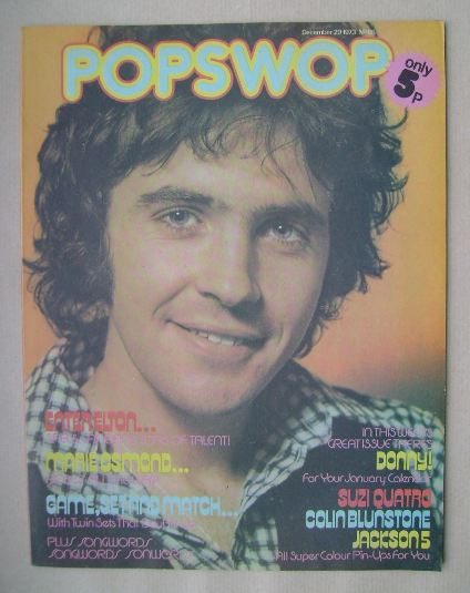 <!--1973-12-29-->Popswop magazine - 29 December 1973 - David Essex cover