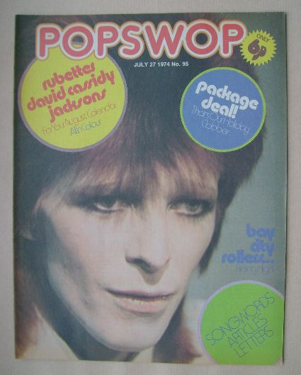 <!--1974-07-27-->Popswop magazine - 27 July 1974 - David Bowie cover