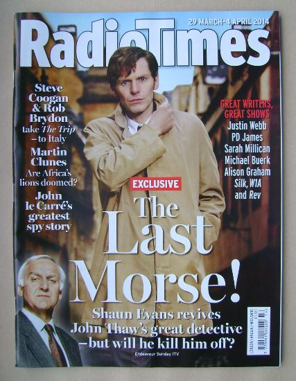 <!--2014-03-29-->Radio Times magazine - Shaun Evans cover (29 March - 4 Apr