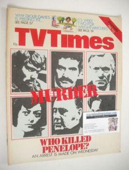 TV Times magazine - Who Killed Penelope cover (7-13 February 1976)