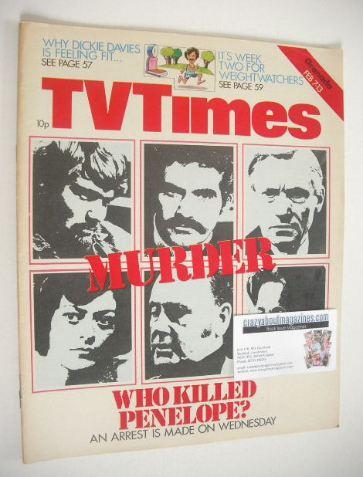 <!--1976-02-07-->TV Times magazine - Who Killed Penelope cover (7-13 Februa