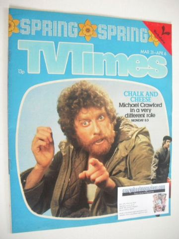 <!--1979-03-31-->TV Times magazine - Michael Crawford cover (31 March - 6 A