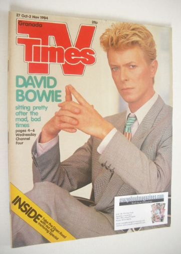 <!--1984-10-27-->TV Times magazine - David Bowie cover (27 October - 2 Nove