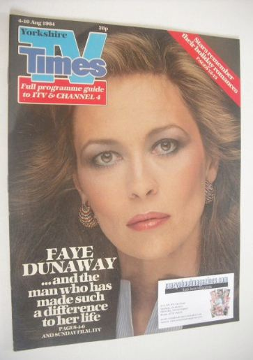 <!--1984-08-04-->TV Times magazine - Faye Dunaway cover (4-10 August 1984)