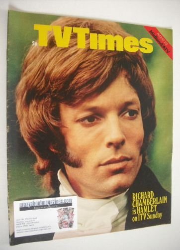 <!--1971-08-07-->TV Times magazine - Richard Chamberlain cover (7-13 August