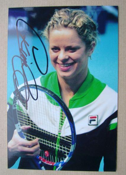 Kim Clijsters autograph