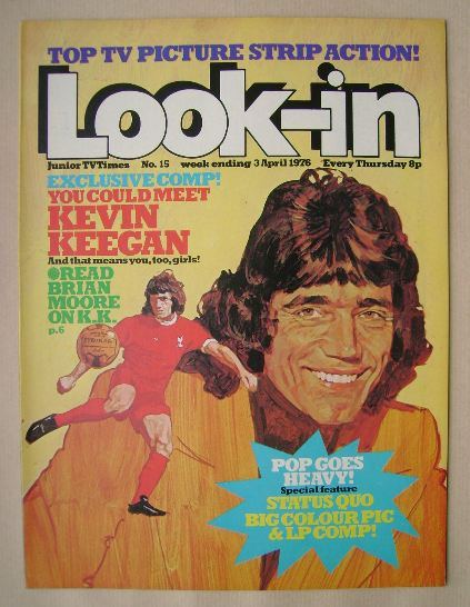 <!--1976-04-03-->Look In magazine - Kevin Keegan cover (3 April 1976)