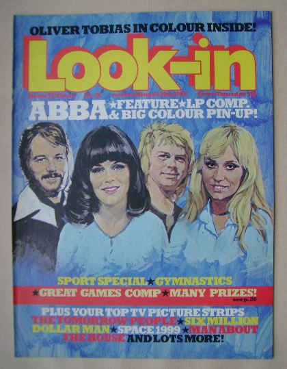 <!--1976-05-22-->Look In magazine - ABBA cover (22 May 1976)