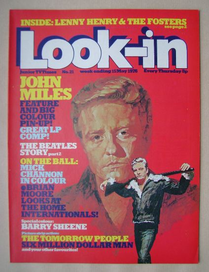 <!--1976-05-15-->Look In magazine - John Miles cover (15 May 1976)