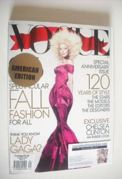 US Vogue magazine - September 2012 - Lady Gaga cover