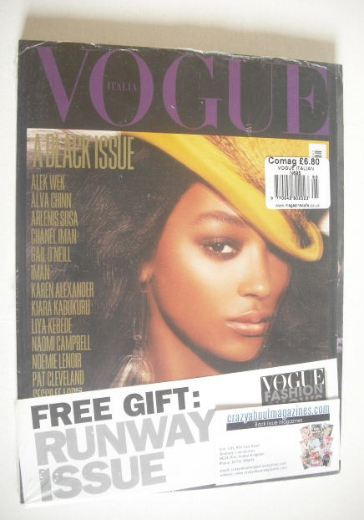 <!--2008-07-->Vogue Italia magazine - July 2008 - Jourdan Dunn cover
