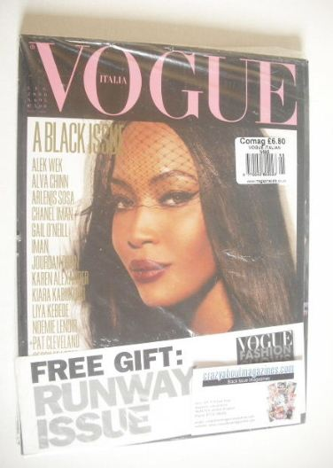 <!--2008-07-->Vogue Italia magazine - July 2008 - Naomi Campbell cover