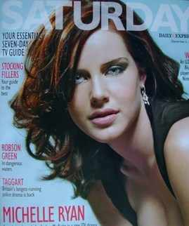 <!--2009-12-05-->Saturday magazine - Michelle Ryan cover (5 December 2009)