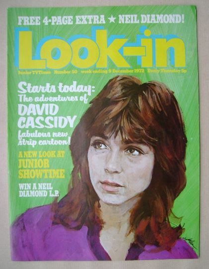 <!--1972-12-09-->Look In magazine - David Cassidy cover (9 December 1972)