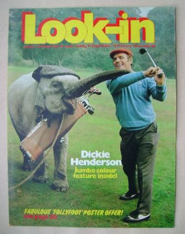 <!--1971-09-11-->Look In magazine - Dickie Henderson cover (11 September 19