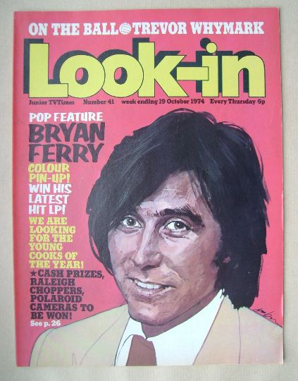 <!--1974-10-19-->Look In magazine - Bryan Ferry cover (19 October 1974)