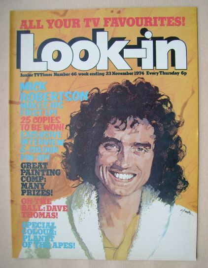 <!--1974-11-23-->Look In magazine - Mick Robertson cover (23 November 1974)