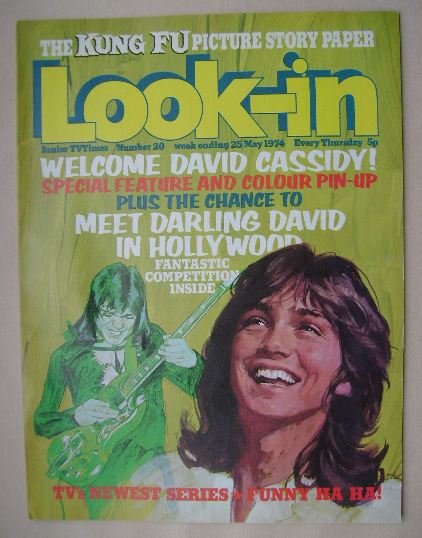<!--1974-05-25-->Look In magazine - David Cassidy cover (25 May 1974)
