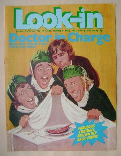 <!--1972-05-20-->Look In magazine - Doctor in Charge cover (6 May 1972)
