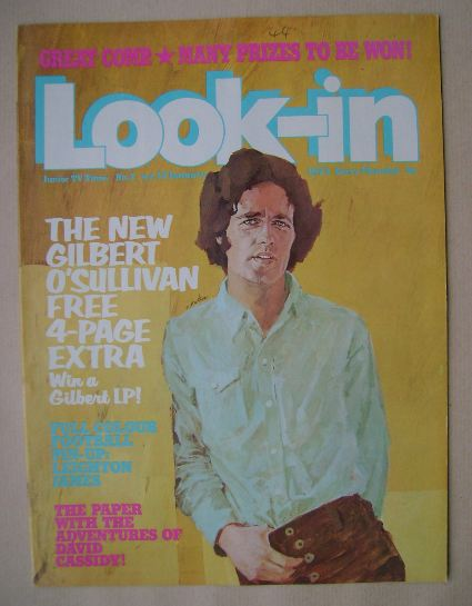 <!--1973-01-13-->Look In magazine - Gilbert O'Sullivan cover (13 January 19