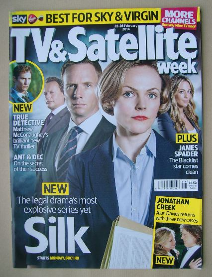 <!--2014-02-22-->TV&Satellite Week magazine - Silk cover (22-28 February 20