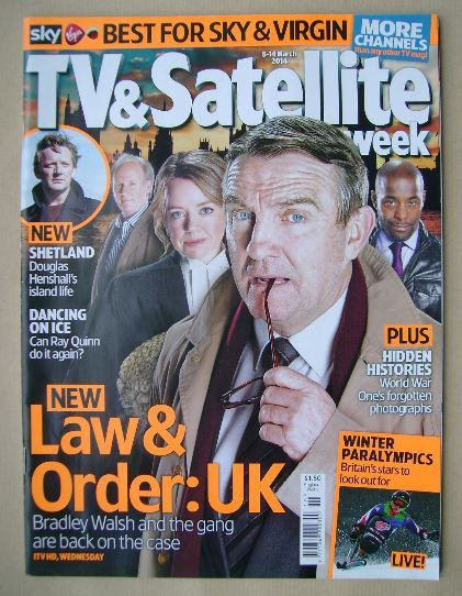 <!--2014-03-08-->TV&Satellite Week magazine - Law & Order: UK cover (8-14 M