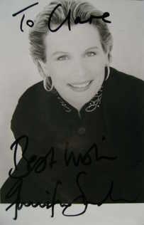 Jennifer Saunders autograph