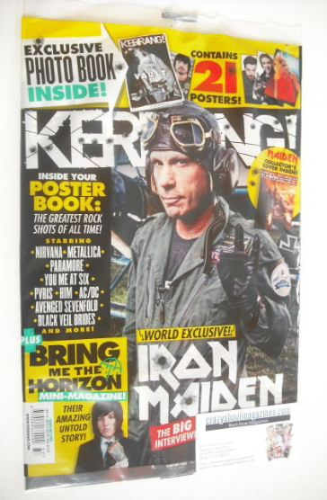 <!--2015-09-12-->Kerrang magazine - Iron Maiden cover (12 September 2015 -