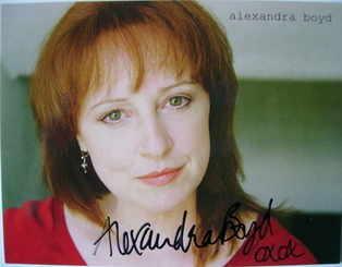 Alexandra Boyd autograph (hand-signed photograph)