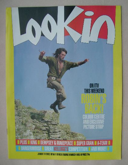 <!--1985-03-09-->Look In magazine - Michael Praed cover (9 March 1985)