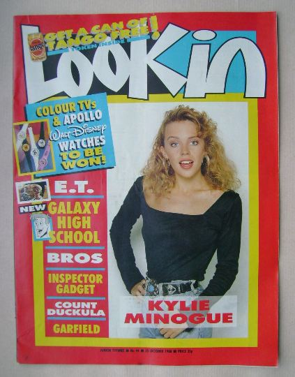 <!--1988-10-25-->Look In magazine - Kylie Minogue cover (25 October 1988)