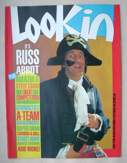 <!--1985-09-14-->Look In magazine - Russ Abbot cover (14 September 1985)
