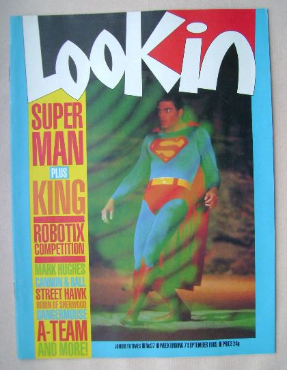 <!--1985-09-07-->Look In magazine - Superman cover (7 September 1985)