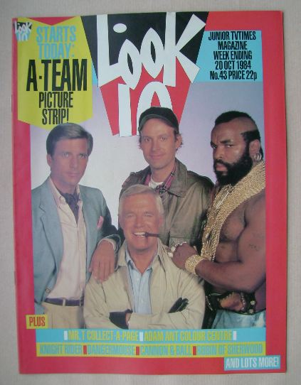 <!--1984-10-20-->Look In magazine - The A-Team cover (20 October 1984)
