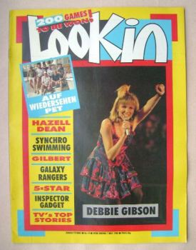 Look In magazine - Debbie Gibson cover (7 May 1988)