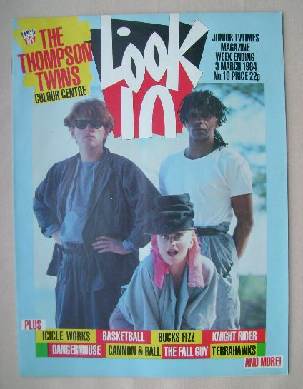 <!--1984-03-03-->Look In magazine - The Thompson Twins cover (3 March 1984)