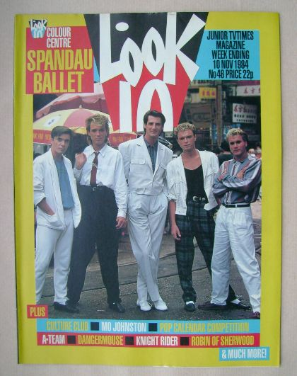 <!--1984-11-10-->Look In magazine - Spandau Ballet cover (10 November 1984)