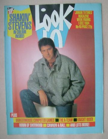 <!--1984-12-01-->Look In magazine - Shakin' Stevens cover (1 December 1984)