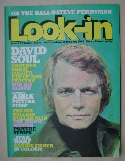 <!--1978-01-21-->Look In magazine - David Soul cover (21 January 1978)