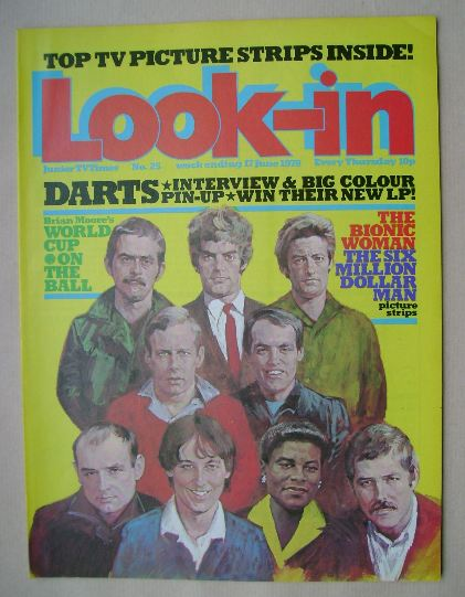 <!--1978-06-17-->Look In magazine - Darts cover (17 June 1978)
