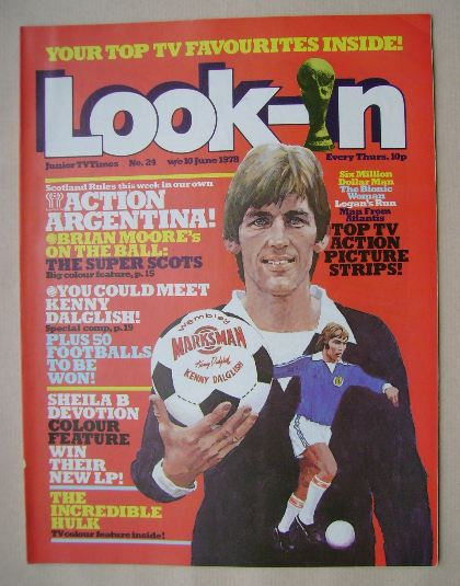 <!--1978-06-10-->Look In magazine - Kenny Dalglish cover (10 June 1978)