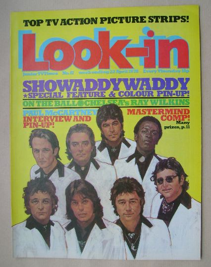<!--1978-04-22-->Look In magazine - Showaddywaddy cover (22 April 1978)