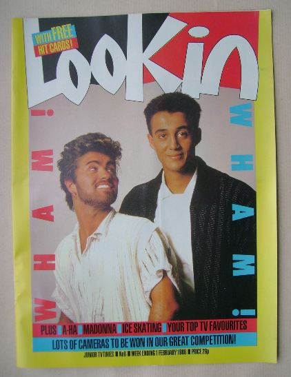 <!--1986-02-01-->Look In magazine - Wham! cover (1 February 1986)