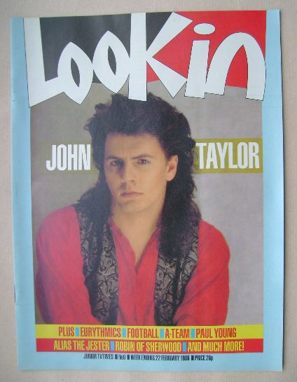 <!--1986-02-22-->Look In magazine - John Taylor cover (22 February 1986)