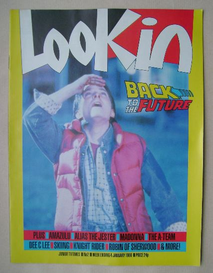 <!--1986-01-04-->Look In magazine - Michael J Fox cover (4 January 1986)